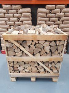 1m3 kiln dried ash - front view